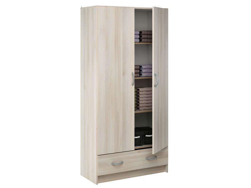 Lingere 2 Portes 1 Tiroir 515389 Armoire Chambre Armoire Conforama Armoire 2 Portes