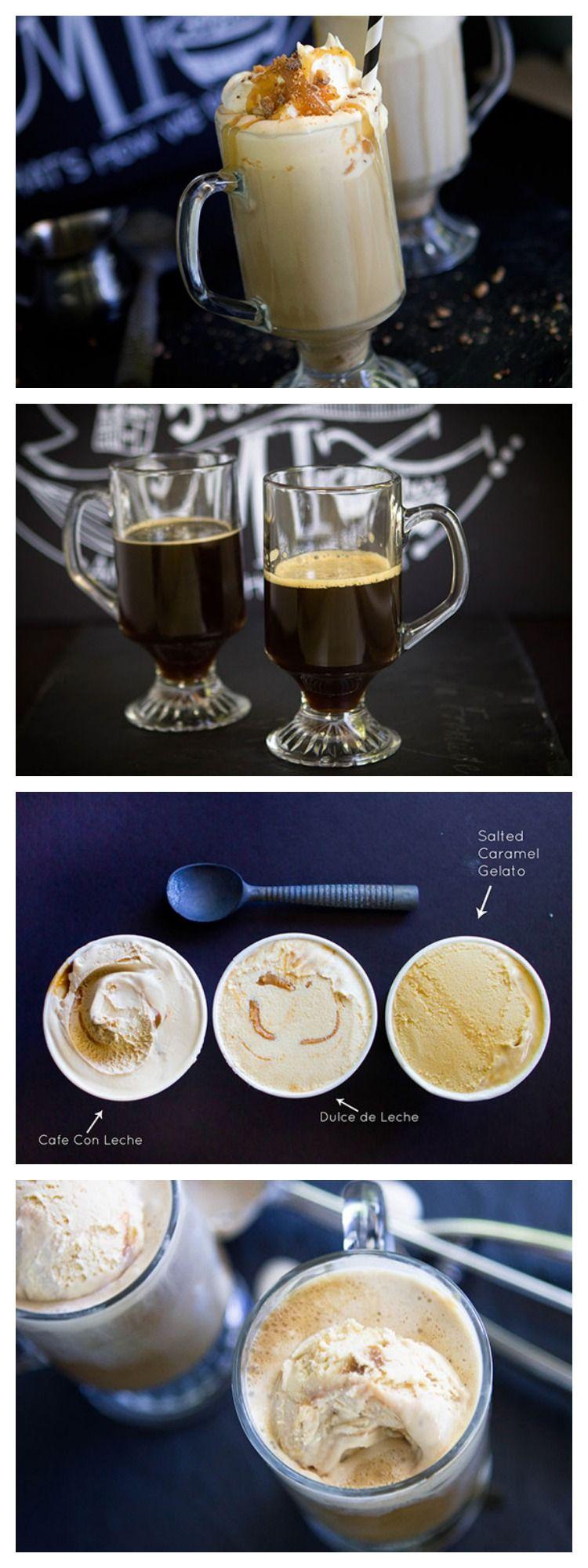 Caramel Ice Cream Coffee Affogato
