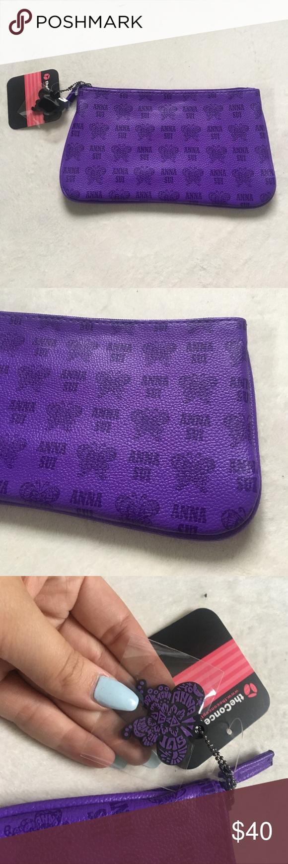 Anna Sui Purple Makeup Bag NWT Anna sui bags, Makeup