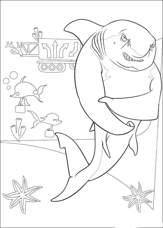große haie kleine fische 2 ausmalbilder für kinder
