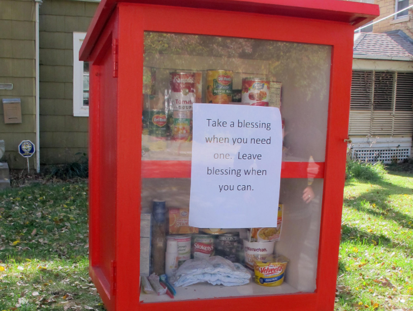 Tiny food pantries are popping up across America (With