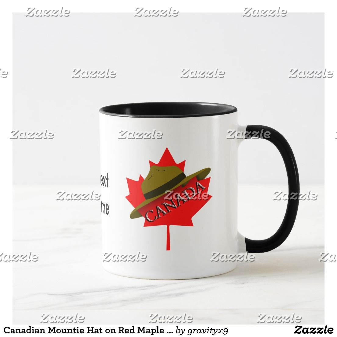 Canadian Mountie Hat on Red Maple Leaf Mug | Zazzle.com ...