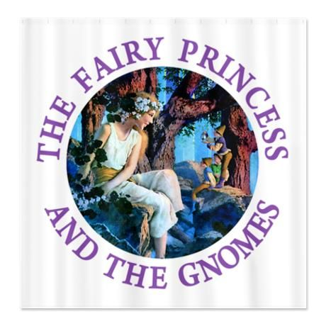 Princess And The Gnomes Shower Curtain