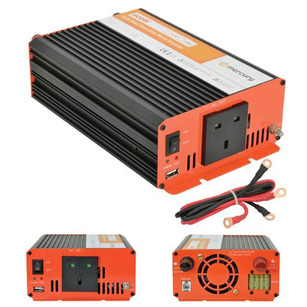Mercury 652 103UK 600w Power Inverter 24v 230v Soft Start