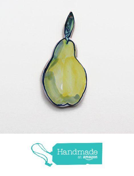 Pear trivet spoon rest in Majolica ceramic from Cosmic Mermaid http://www.amazon.com/dp/B019E9I4U0/ref=hnd_sw_r_pi_dp_WYGCwb14QXYPA #handmadeatamazon