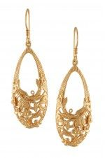 Tribebyamrapali-Silver Gold Plated Floral Earrings