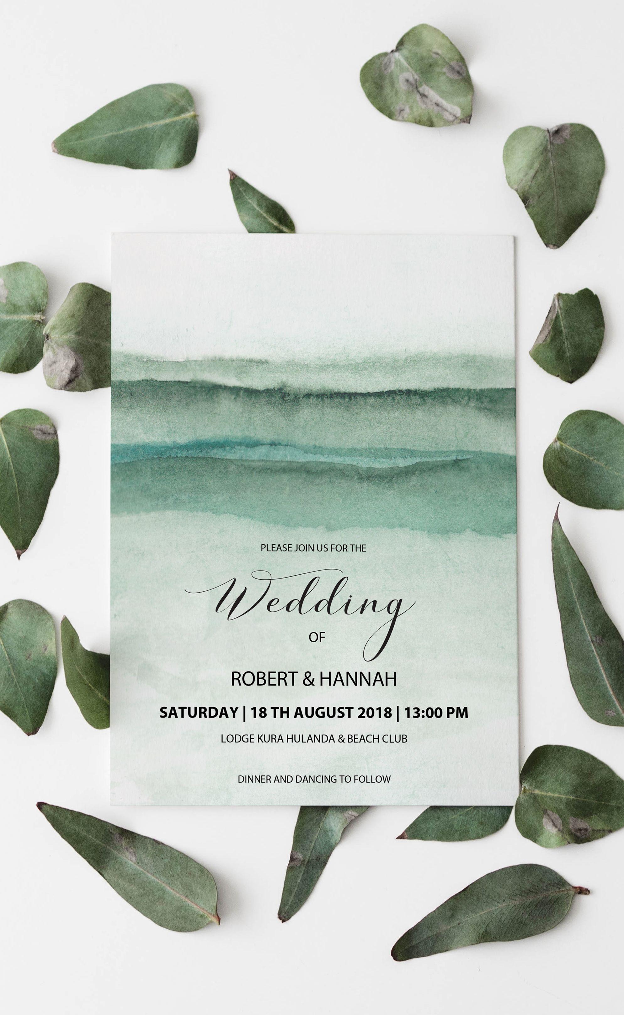 Mountain Wedding Invitation Template Download Printable Elegant