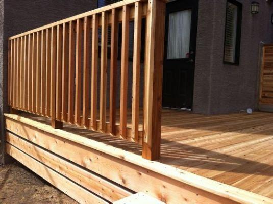 Incredible Wood Deck Baluster Designs Balkon Gelander Holz Terrassen Handlauf Aussengelander