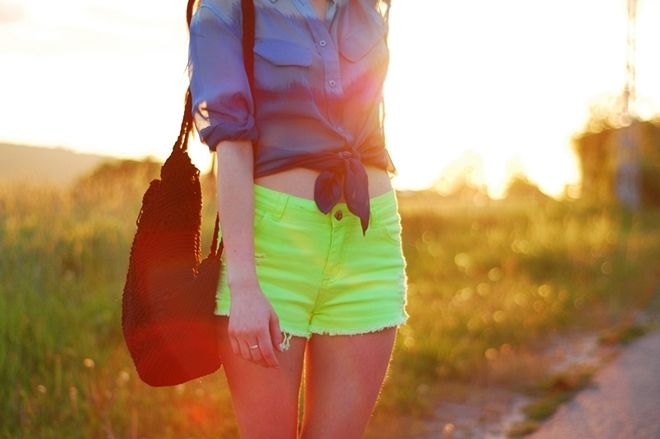 transparent and neon.