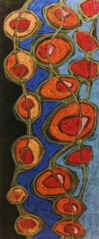 January 1, Oil Pastel by Dottie D'Acquisto Graham