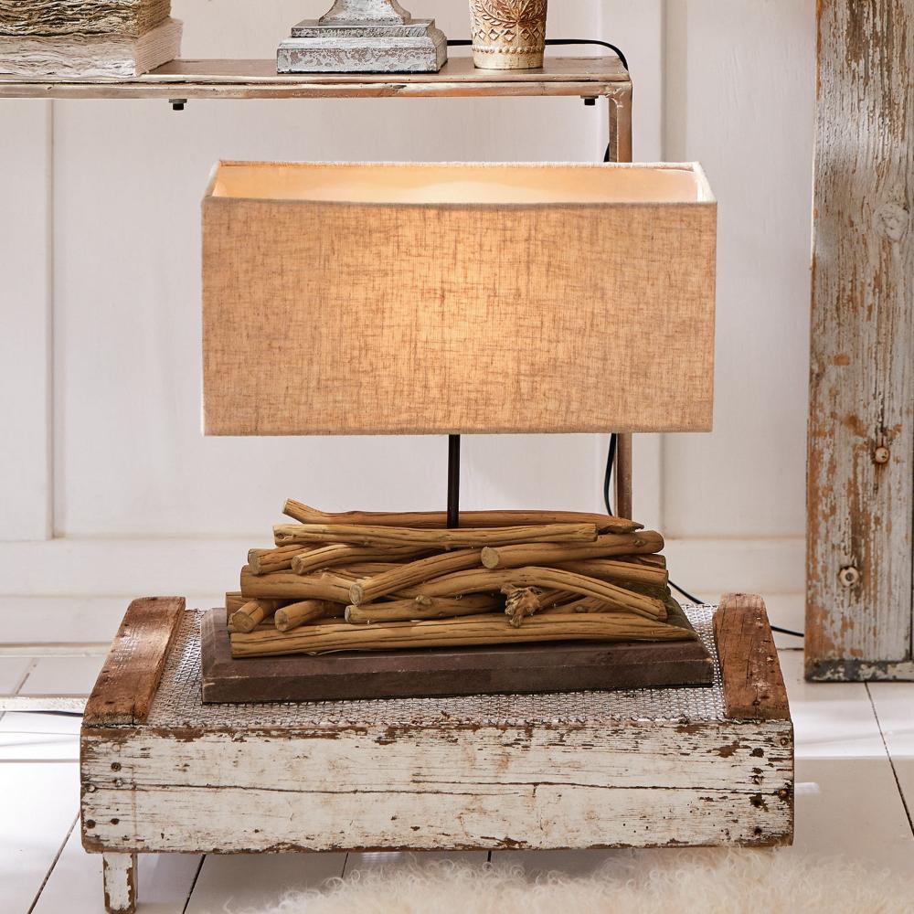 Tischlampe Caribou Braun Leinen Loberon In 2020 Tischlampen Lampe Tisch