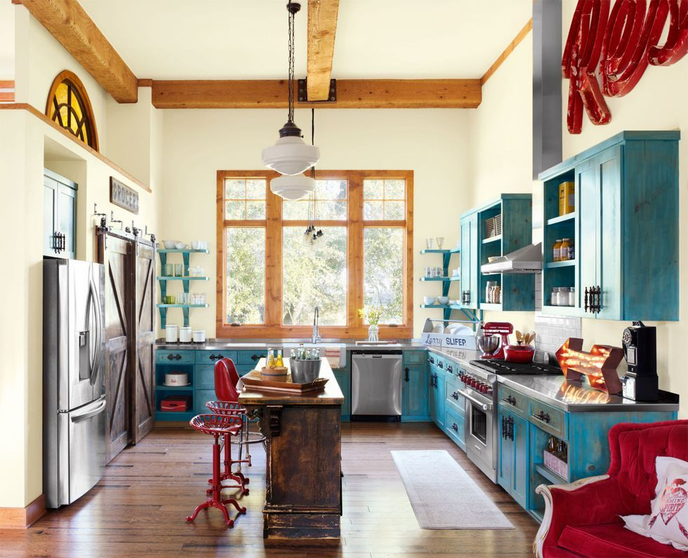 10 Ways To Add Colorful Style To Your Kitchen Turquoise Kitchen Decor Vintage Kitchen Home