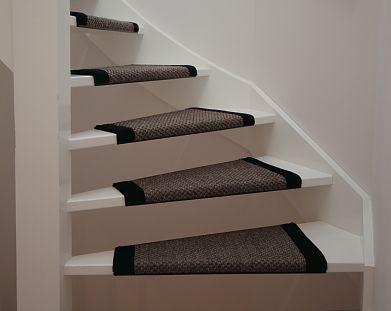 Idee voor open trap van trapbekleding wat een beeldige