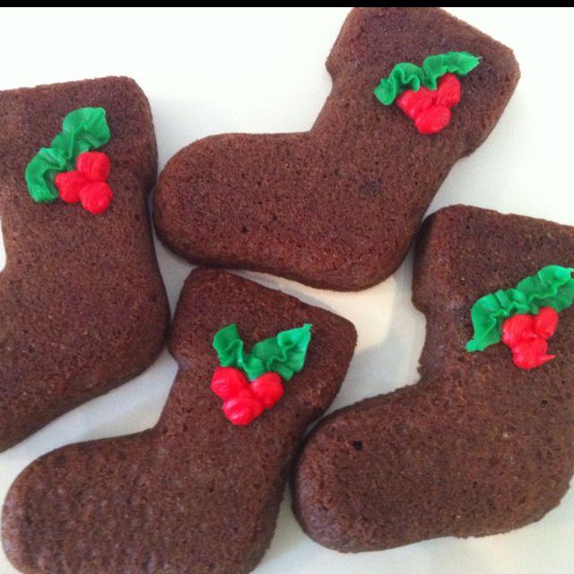 Christmas Stocking Brownies