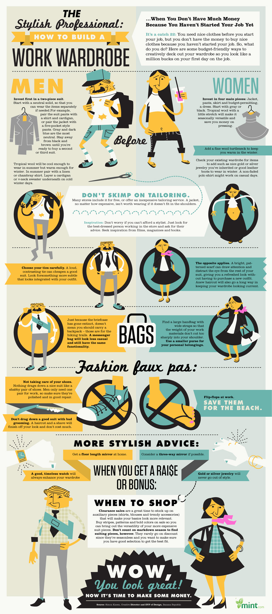 Make sure that you don't show up to your first day looking shabby, dress to impress with these easy tips to save money and look professional!