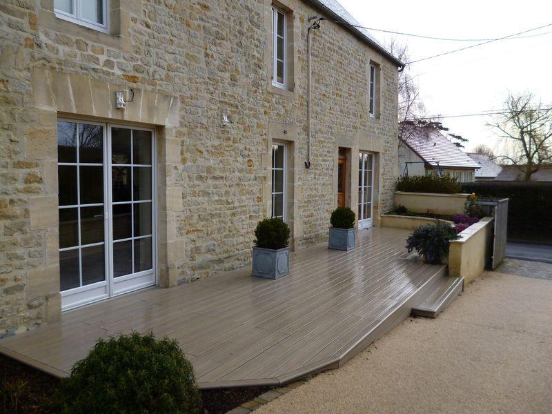 Composite Terrasse composite Pinterest - maison en bois et en pierre