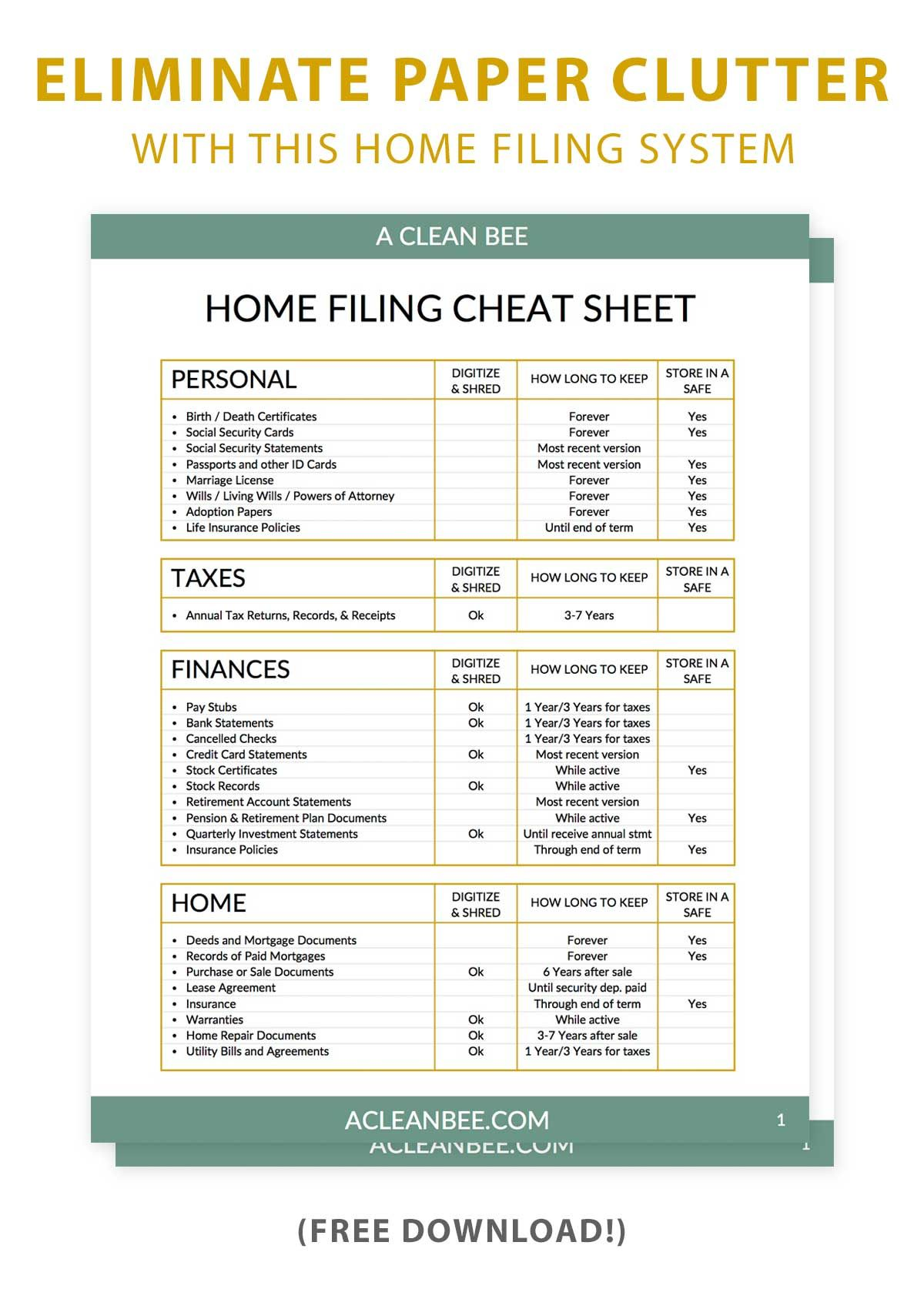 Minimize paper clutter with these home filing categories
