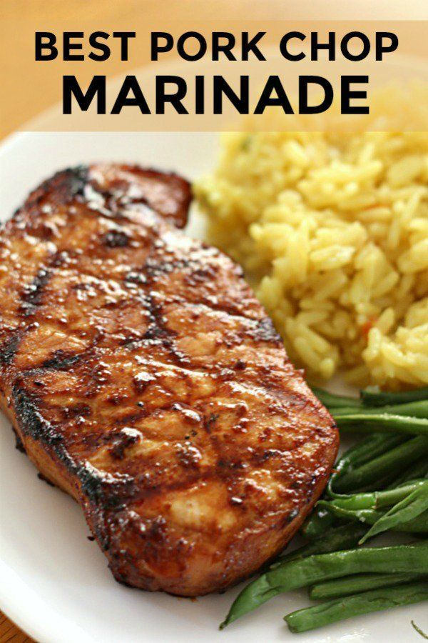 Best Pork Chop Marinade The BEST Pork Chop Marinade {for Grilling} | Six Sisters' Stuff. This is hands-down the Best Pork Chop Marinade out there! Grilled pork chops always turn out juicy with this recipe that uses ingredients you probably have in your pantry right now.The BEST Pork Chop Marinade {for Grilling} | Six Sisters' Stuff. Th...