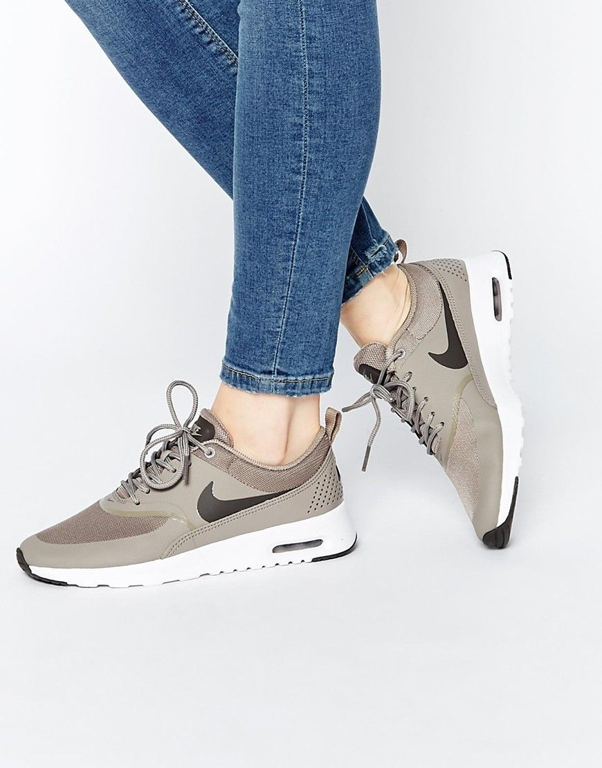 pretty nice f1756 a479b Image 1 of Nike Air Max Thea Grey Trainers