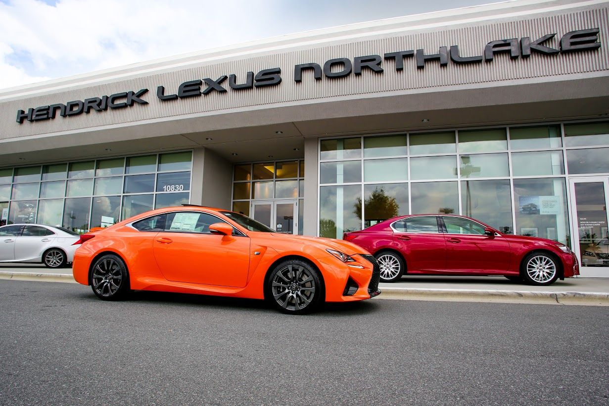 Molten Pearl RCF In Front Of Hendrick Lexus Northlake In Charlotte, NC.