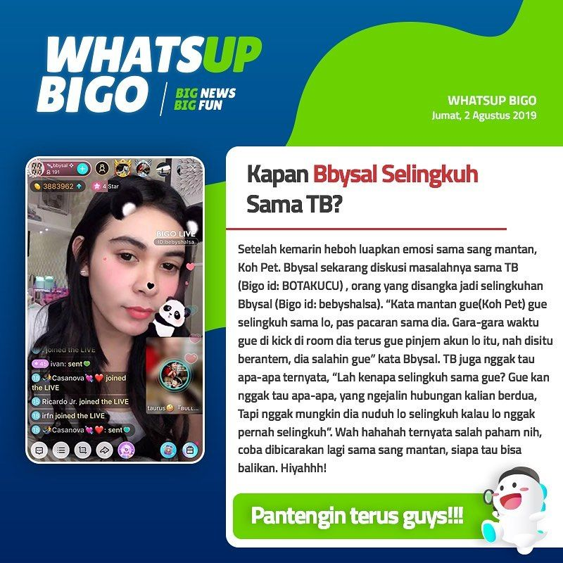 Whatsupbigo Bigonews Bigolive Bigolive Bigoliveindonesia Streaming Live Broadcast Live Streaming