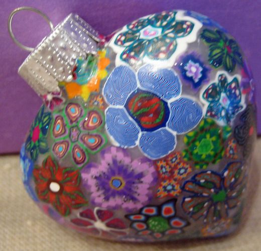 Gorgeous Fimo decorated Xmas Ornament