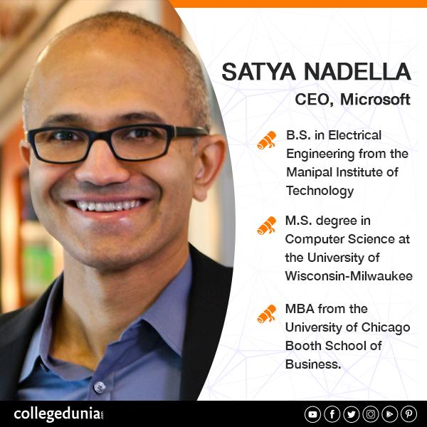 Satya Nadella, CEO, Microsoft Nadella, who hails from