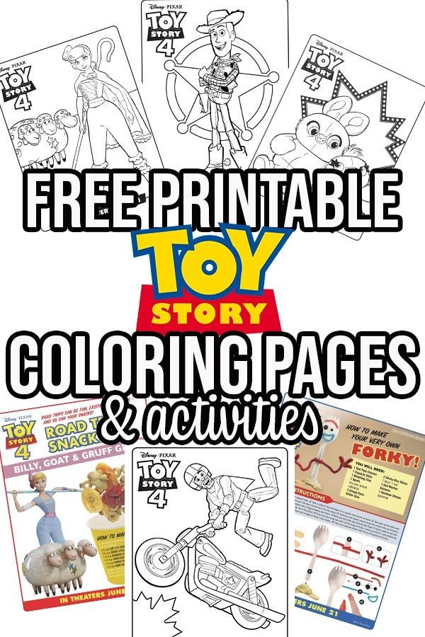 Free Printable Toy Story 4 Coloring Pages and Activities ...