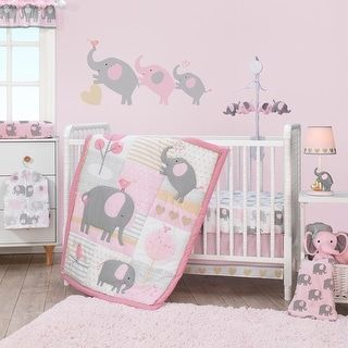Bedtime Originals Eloise Pink/Gray/Gold/White Elep