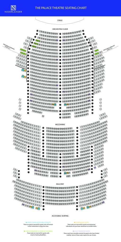 manchester palace seating charts theater seating