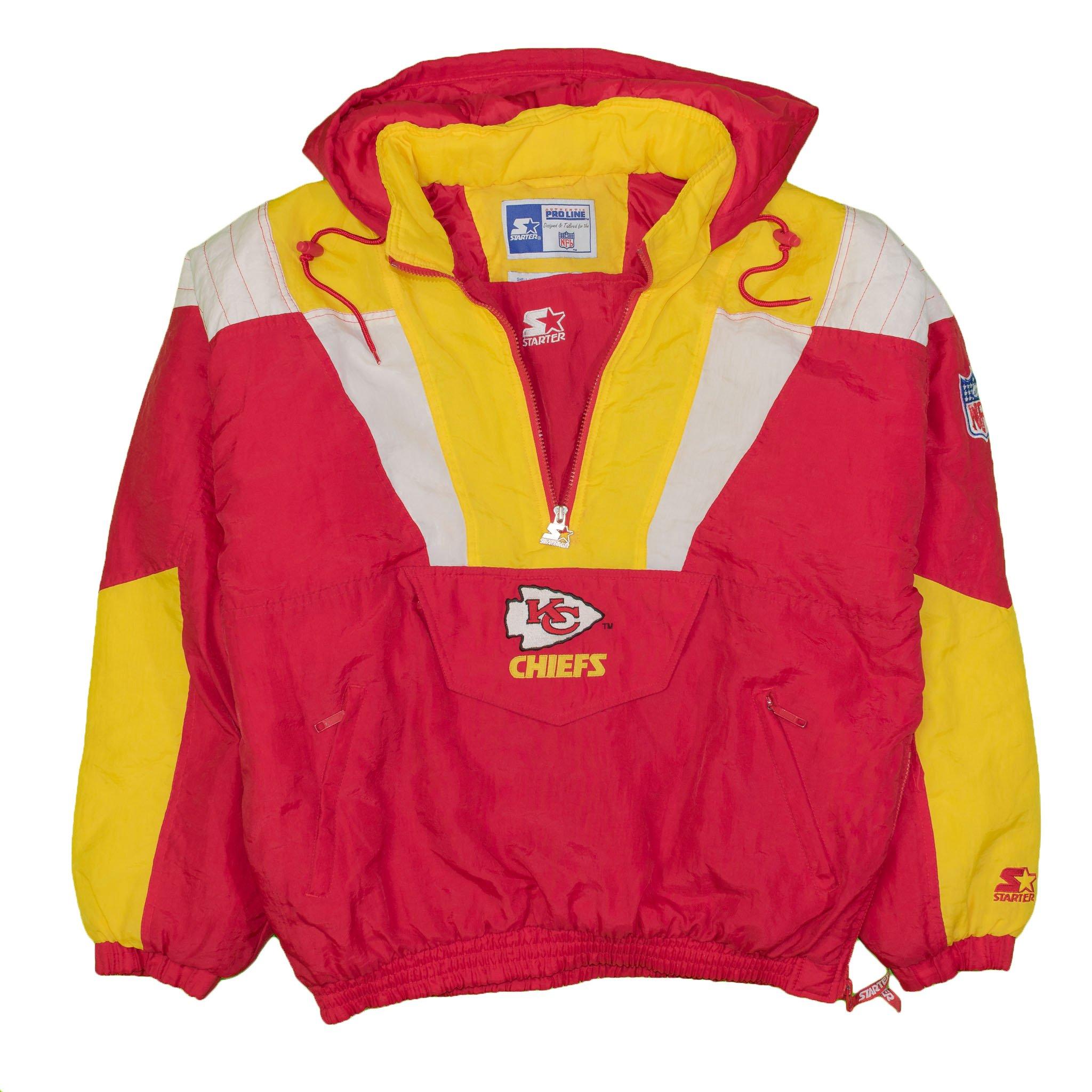 bf0e94cd Kansas City Chiefs Vintage Starter Pullover Jacket | Vintage Kansas ...