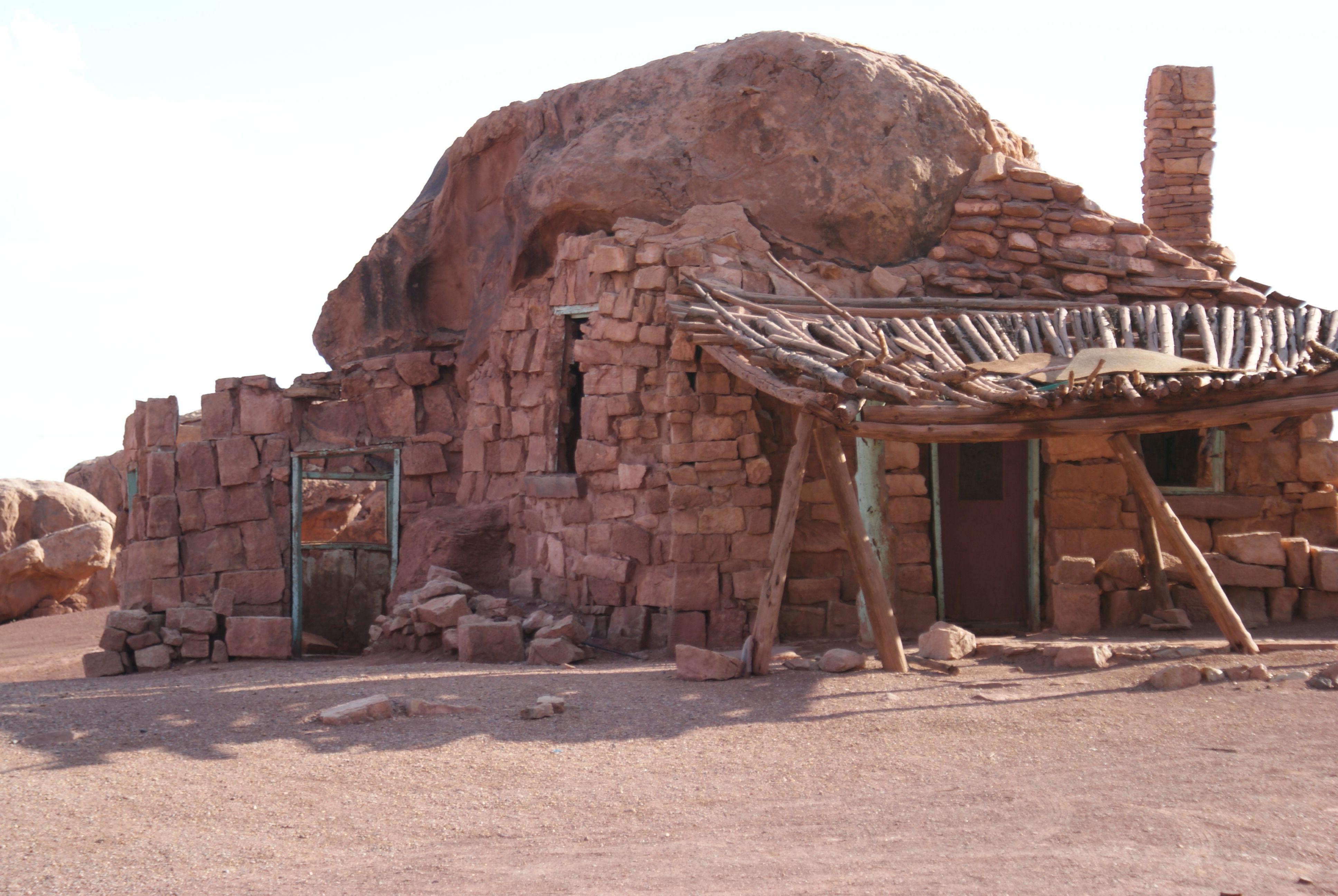 A house in a rock lees ferry az lake powell arizona