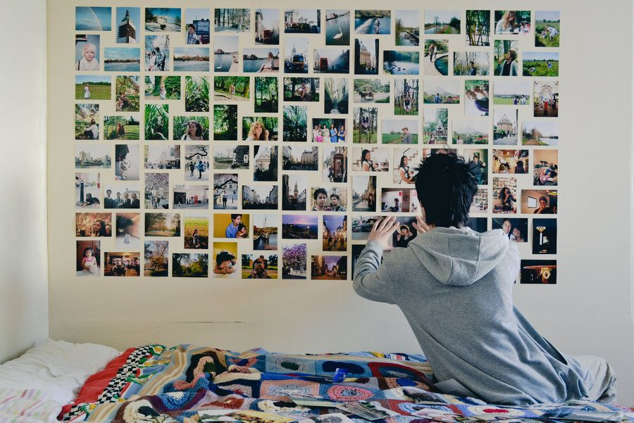 Photo wall collage without frames layout ideas cool home
