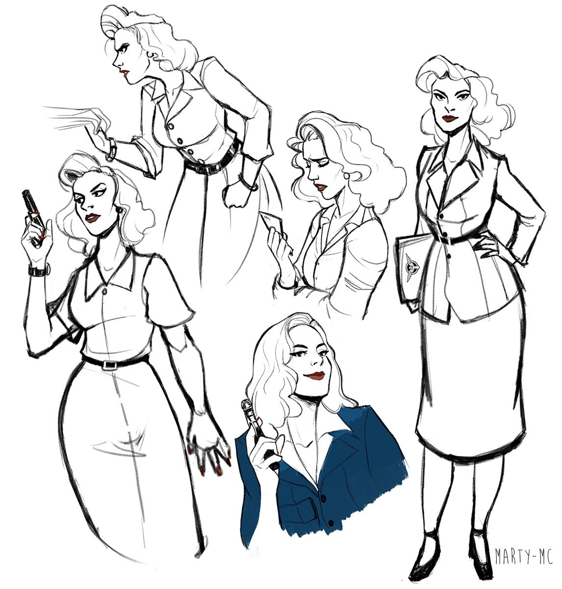"""Agent Peggy Carter"" by marty-mc"