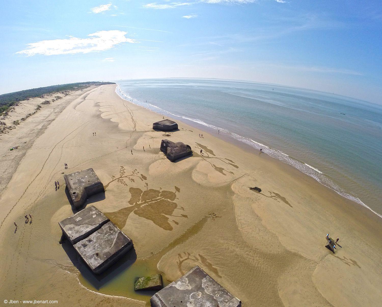 Land art, sand art, landscape art, sand drawing, playa painting, gopro, beach, dji phantom, nature, trees
