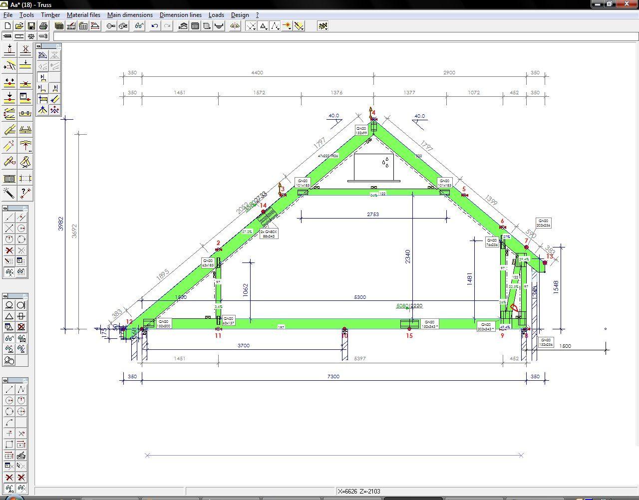 Attic Roof Trusses Design Roof truss design, Roof