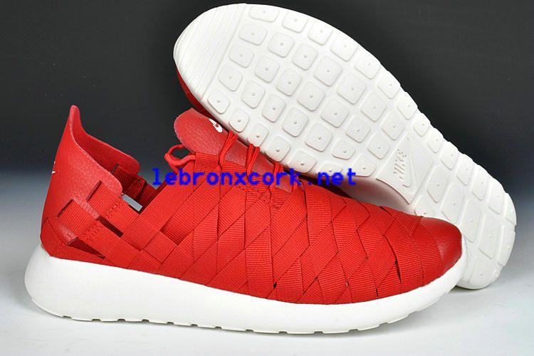 Nike Roshe Run Woven Varsity Red White For Sale 555257 600