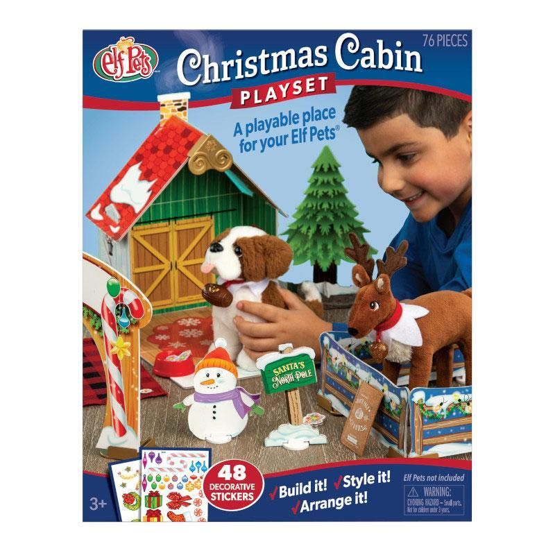 Elf Pets Christmas Cabin Playset Elf Pets Christmas Animals Elves At Play