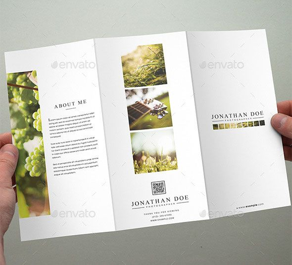 Photography Tri-Fold Brochure Template Are you a professional