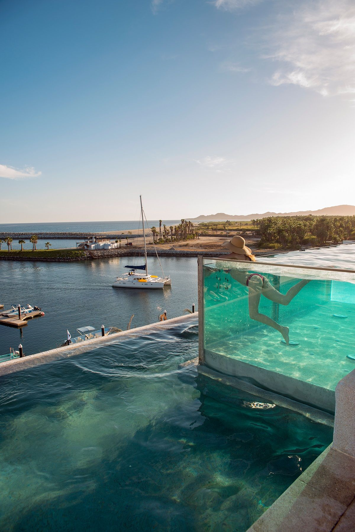 320ebbd1e68 The sophisticated El Ganzo Hotel in Puerto Los Cabos boasts a stylish  rooftop pool oasis where you can chill out on Bali-style daybeds