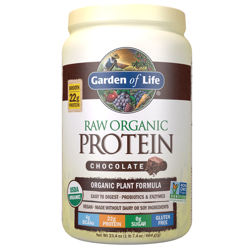 Raw Organic Protein Powder Chocolate Cacao 23 28 Oz 660g