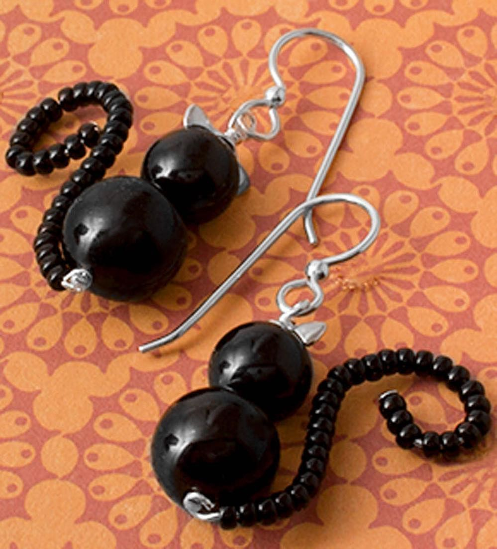 Black Cat Earrings Inspiration Project