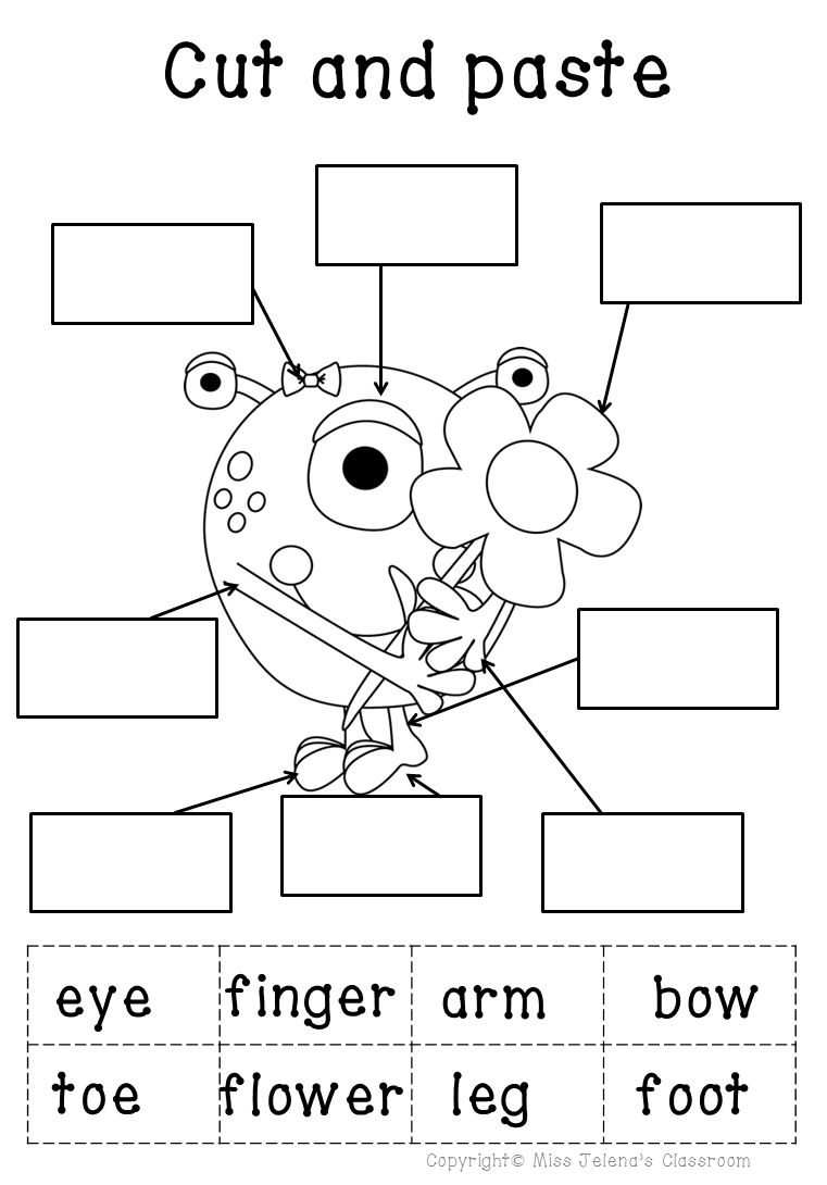 My body parts math and literacy worksheets | Kinder: Science ...