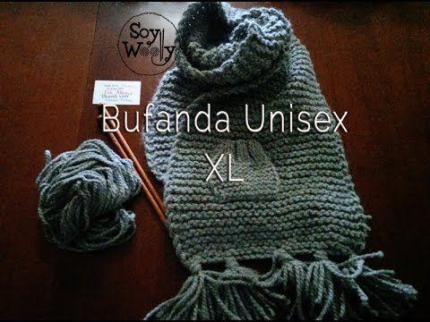 Teje una Bufanda de punto XL, fácil, unisex y diferente | All wool ...
