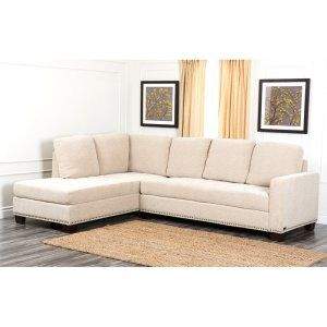Best Abbyson Living Macalea Fabric Sectional Image Fabric 400 x 300