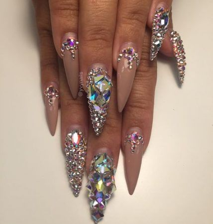 Best Birthday Nails Bling Gems Ideas Nails Design With Rhinestones Bling Nails Rhinestone Nails