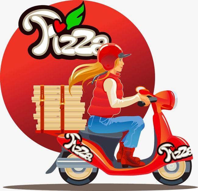 Entrega de pizza de la motocicleta de la belleza, MOTO Belleza ...