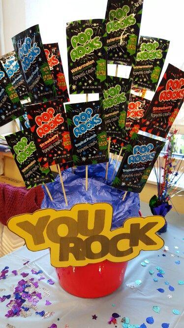 My version of You Rock with Pop Rocks!Perfect for Employee appreciation week! #employeeappreciationideas