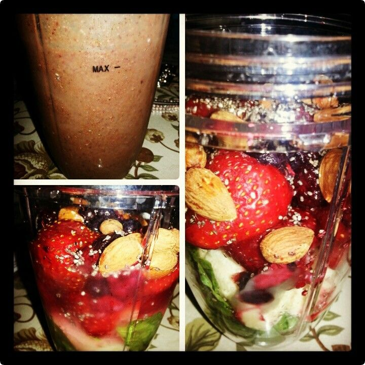 NutriBullet drink Spinach Almonds ChiaSeed Strawberries Banana Berries #091513 Hawaii