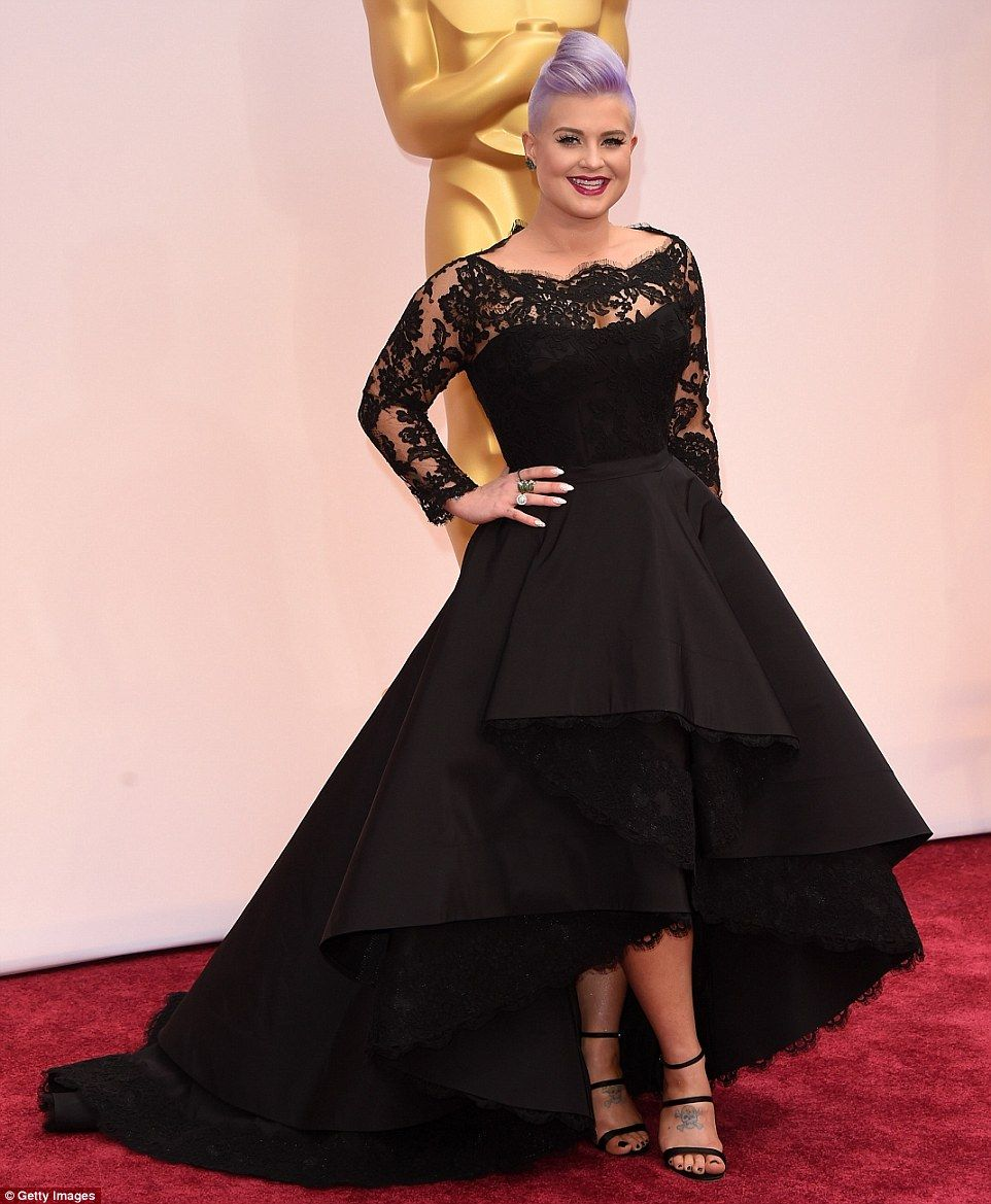 Black lace dress red shoes  Reese Julianne Marion and Felicity lead glamour at Academy Awards